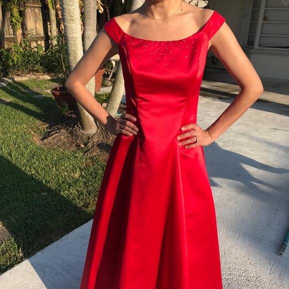 Jessica McClintock Red Prom Dresses Long